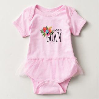 Made in Guam With Flowers Baby Bodysuit