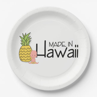 Made in Hawaii Baby Shower Paper Plate