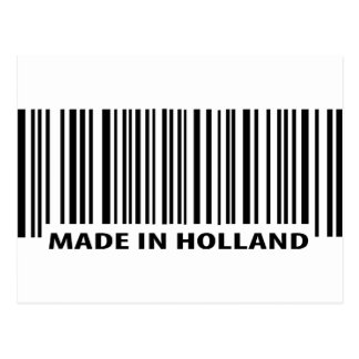 made in holland barcode icon postcard