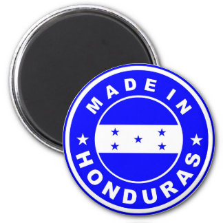 made in honduras country flag product label round magnet