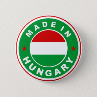 made in hungary country flag label round stamp 2 inch round button