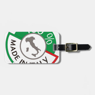 MADE IN ITALY 100% LUGGAGE TAG