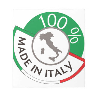 MADE IN ITALY 100% NOTEPAD