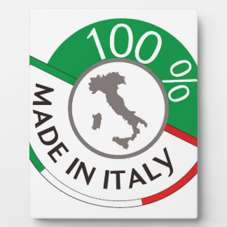 MADE IN ITALY 100% PLAQUE