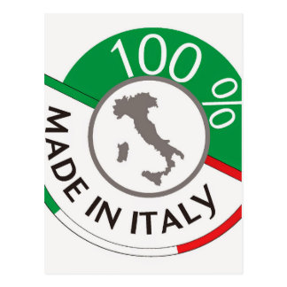 MADE IN ITALY 100% POSTCARD