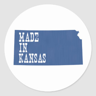 Made In Kansas Classic Round Sticker