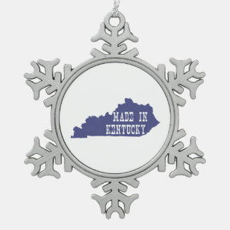 Made In Kentucky Snowflake Pewter Christmas Ornament