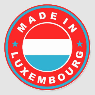 made in luxembourg country flag product label