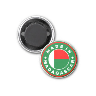 made in madagascar country flag product label magnet
