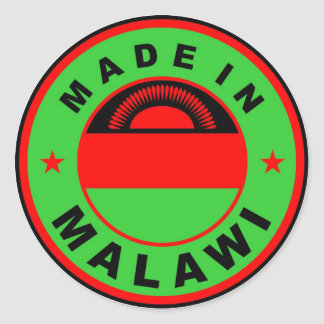 made in malawi country flag product label round round sticker