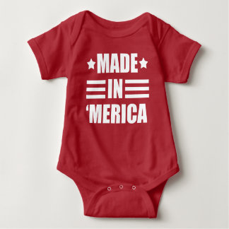 Made in 'Merica funny baby Baby Bodysuit