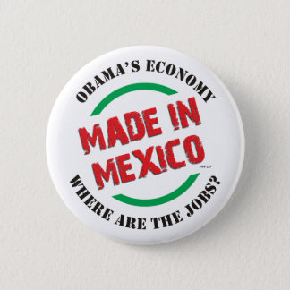 Made In Mexico 2 Inch Round Button