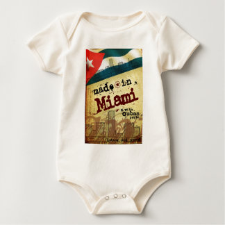 Made in Miami with Cuban Parts Baby Bodysuit