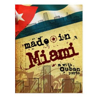 Made in Miami with Cuban Parts Postcard