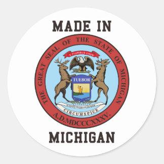 Made In Michigan Round Sticker