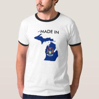 Made in Michigan State Shirt Born Raised Flag