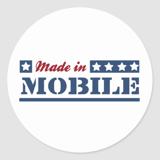Made in Mobile Classic Round Sticker