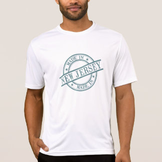 Made In New Jersey Stamp Style Logo Symbol Green T-Shirt