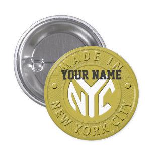 Made In New York 1 Inch Round Button