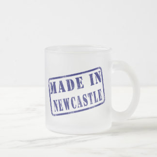 Made in Newcastle 10 Oz Frosted Glass Coffee Mug