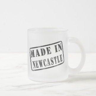 Made in Newcastle Frosted Glass Mug