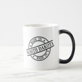 Made In North Dakota Stamp Style Logo Symbol Black Magic Mug