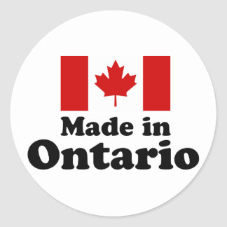 Made in Ontario Classic Round Sticker