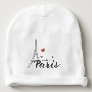 Made in Paris With Eiffel Tower Baby Beanie