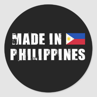 Made in Philippines Classic Round Sticker