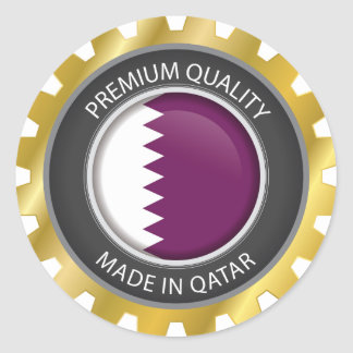 Made in Qatar Flag, Qatari Colors Seal