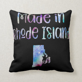 Made in Rhode Island RI state Iridescent Pearl Throw Pillow