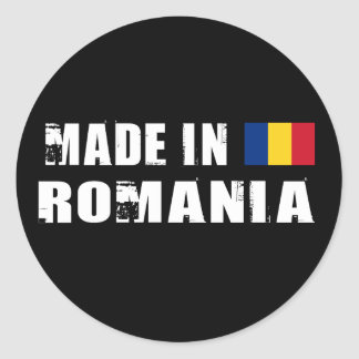 Made in Romania Classic Round Sticker