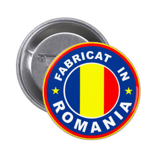 made in romania flag fabricat romanian label 2 inch round button
