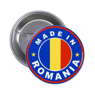 made in romania flag product label 2 inch round button