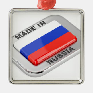 Made in Russia Metal Ornament