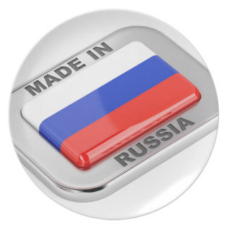 Made in Russia Plate