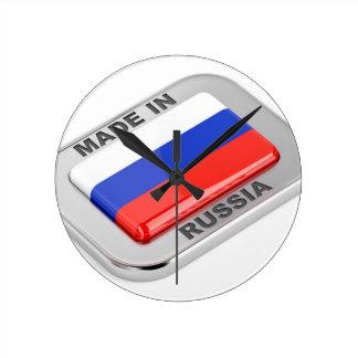 Made in Russia Round Clock