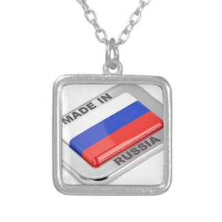 Made in Russia Silver Plated Necklace