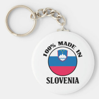 Made In Slovenia Basic Round Button Keychain