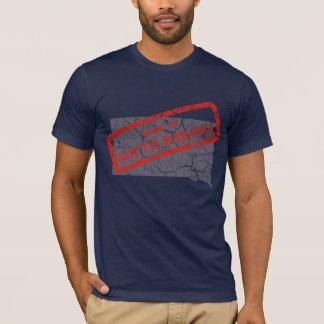 Made in South Dakota Grunge Mens Navy Blue T-shirt