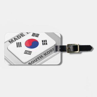 Made in South Korea Luggage Tag