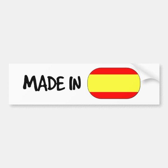 Made in Spain Bumper Sticker