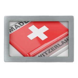 Made in Switzerland Rectangular Belt Buckle