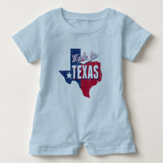 """Made In Texas"" Baby Romper"