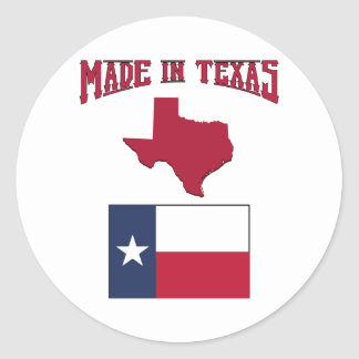 Made in Texas Classic Round Sticker
