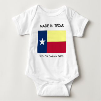 Made In Texas With Colombian Parts Infant Shirt