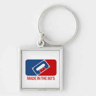 Made in the 80s Silver-Colored square keychain