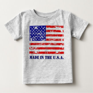 Made In The U.S.A. American Flag T Shirt