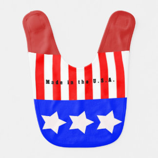Made in the U.S.A. Baby Bib by Julie Everhart