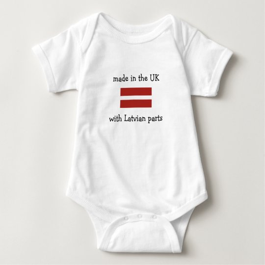 made in the UK with Latvian parts Baby Bodysuit